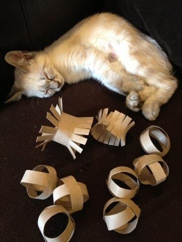 katten speelgoed zelf maken